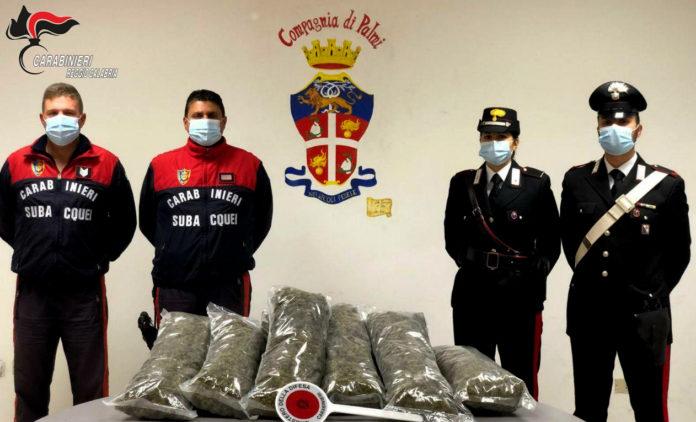 stupefacenti in barca, arresto Carabinieri Reggio Calabria