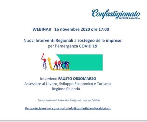 Confartigianato imprese Calabria webinar Riapri Calabria 2
