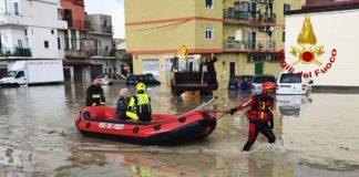 Crotone, alluvione, Vigili del Fuoco