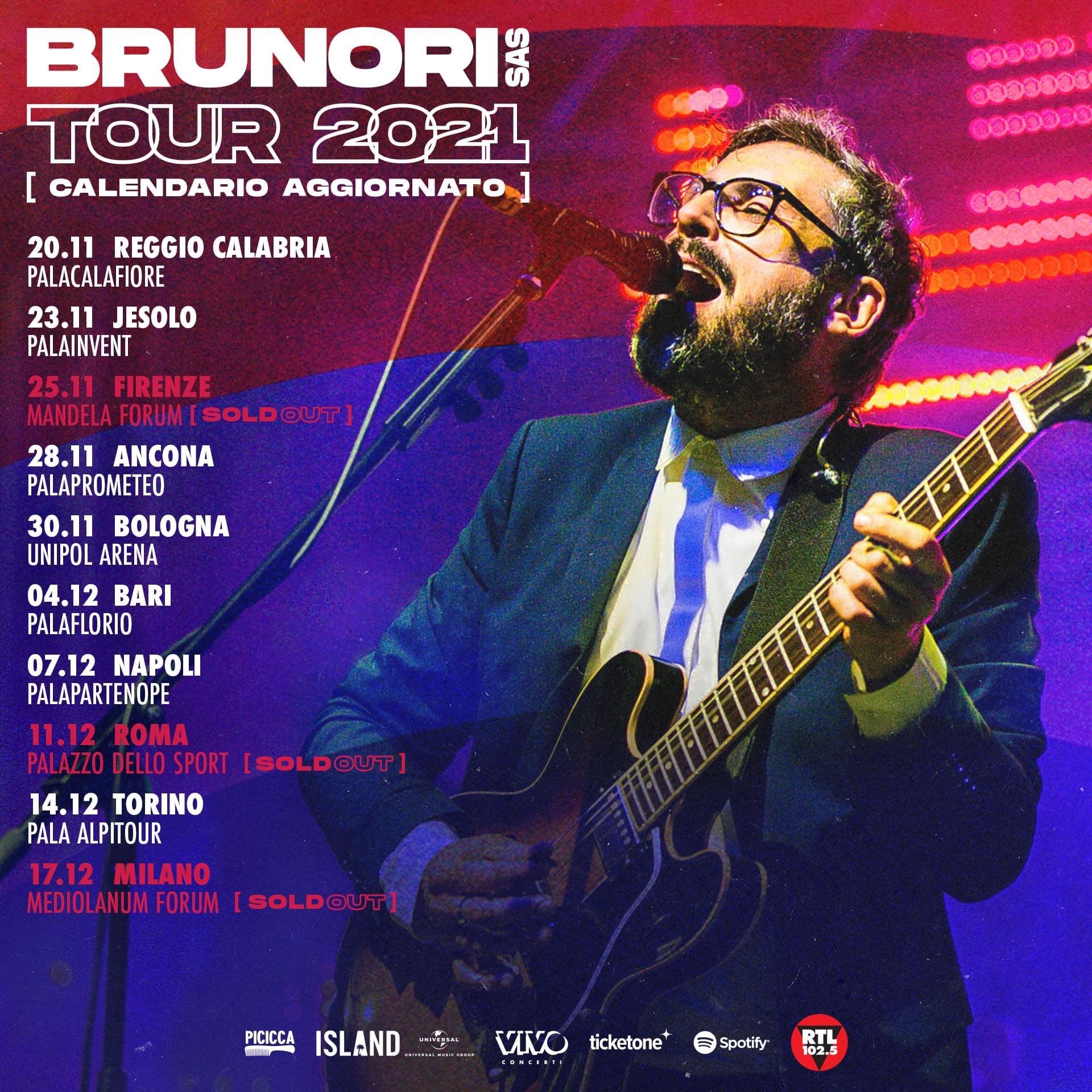Rinviato al 20 novembre 2021 il concerto di Brunori SAS al