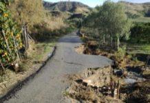Crotone - Casabona La strada non percorribile segnalata da Coldiretti