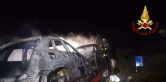 Incendio autotreno a Pizzo, Vigili del Fuoco Vibo Valentia