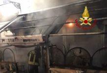 Girifalco (CZ), incendio bar piazza San Rocco,Vigili del fuoco