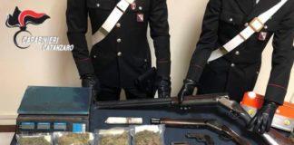 arresto a Curinga per droga e armi, Carabinieri Catanzaro