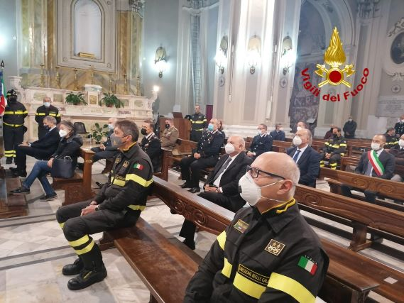 vigili del fuoco, santa barbara, Chiesa del Monte Catanzaro