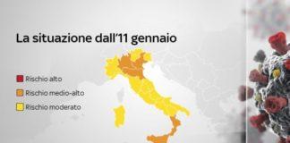 Covid Italia, Regioni in zona arancione dal 10 gennaio