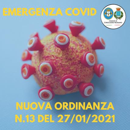 Emergenza Covid, Ordinanza Corigliano Rossano