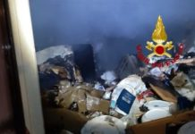 Incendio abitazione, Davoli, Vigili del Fuoco
