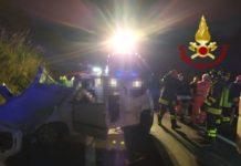 Incidente SS 18 San Nicola Arcella, intervento Vigili del Fuoco