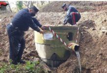 Platania, sequestro vasca reflui fognari, Carabinieri Tutela Forestale Catanzaro