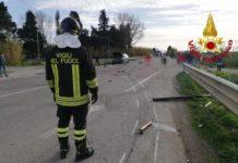 Incidente stradale SS 18 Lamezia, Vigili del Fuoco