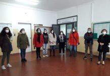 Fp Cgil Delegazione infermieri in forza al carcere di Catanzaro con Amalia Talarico (ultima a destra)