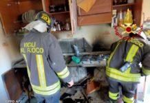 incendio appartamento, Vigili del Fuoco