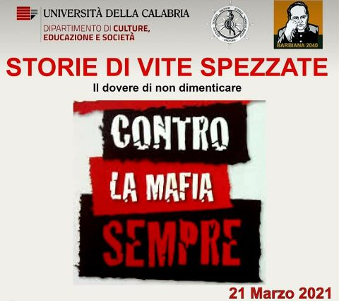 Unical, Webinar, l'incontro del 21 marzo