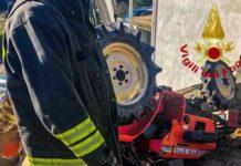 Incidente San Giovanni in Fiore (CS) Vigili del Fuoco