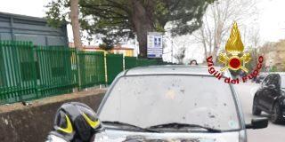 Incendio Fiat 500 in transito a Janò, Vigili del Fuoco