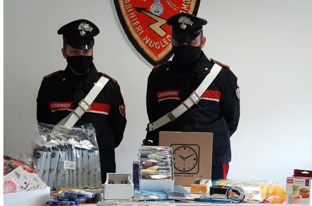 sequestro articoli pericolosi Carabinieri Crotone
