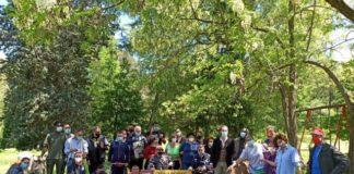 Agricoltura Sociale, Coldiretti Giovani Impresa, Enrico Parisi con un gruppo di ragazzi