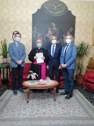 Mons Bertolone e CGIL CISL UIL Calabria