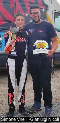 Simone Virelli, Gianluigi Nicoli, karting competition