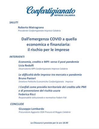 Webinar, Confartigianato Calabria