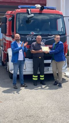 "premio ""O NOSTOS"" 2021 al Vigile del Fuoco Antonino Modaffari"