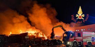Incendio Campo Calabro, Vigili del Fuoco Reggio Calabria