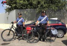 Crotone, biciclette elettriche recuperate dai Carabinieri