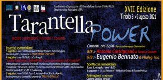Tarantella power 5 agosto 9 agosto 2021 XVII Edizione