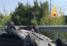 incidente A2 dopo svincolo lamezia direzione sud