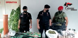Bianco, arrestati padre e figli per armi e droga, Carabinieri Reggio Calabria
