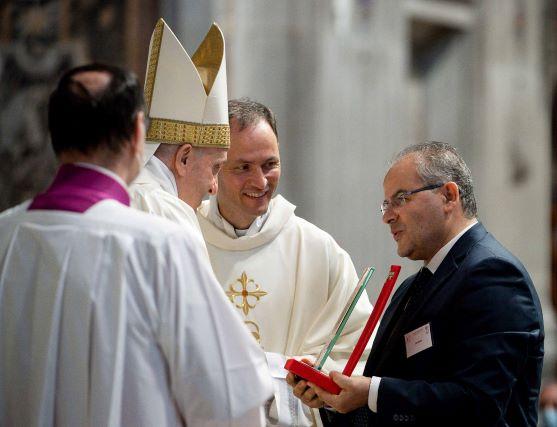 Michele Affidato e Papa Francesco
