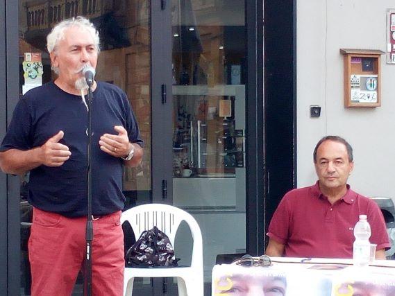 Mimmo Lucano e Antonino Quaranta a Laureana di Borrello