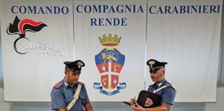 Rende, Carabinieri Cosenza