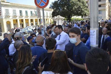 Salvini a Crotone (ANSA)