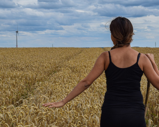 agricoltura, donna, campo di grano
