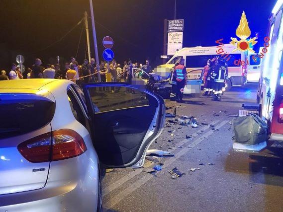 incidente SS 106 direzione Taranto, Vigili del Fuoco Catanzaro