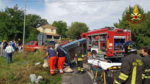 incidente stradale, Vigili del Fuoco Vibo Valentia